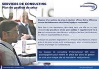 Brochure - plan de gestion de crise